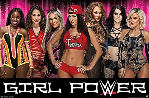 Trends International WWE - Girl Power Wall Poster, 22.375' x 34', Premium Unframed Version