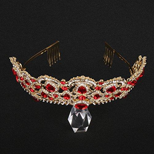 Lurrose Haarband, haaraccessoires, haarband, hoofddeksel voor verjaardag, feest, bruiloft, 1 stuks