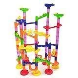 SimpleLife Marble Run Toys, 105 Piezas/Juego Juego de Carreras Juego de plástico Laberinto de Bolas Track House Juguetes de Bloques de construcción