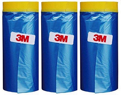 Plastic Sheeting Automotive Masking Tape - Multi Size Pack - No Residue Painters Plastic Drop Cloth...