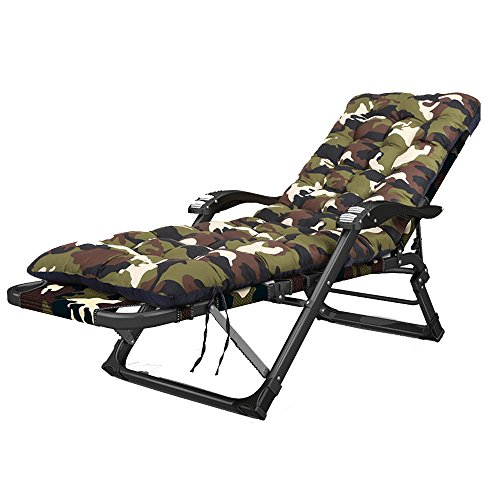 Xiaolin Chaise de Pause de déjeuner de Bureau Chaise de Plage de Sable inclinable Pliable portatif Adulte de Chaise (Couleur : 04)