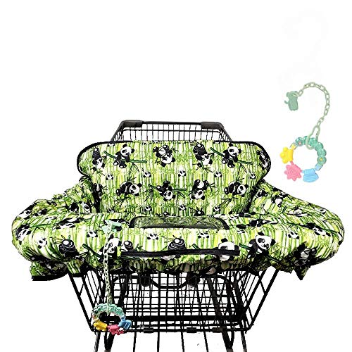 Large Shopping Cart Cover for Baby - 2-in-1 Baby High Chair Cover and Baby Teether - Versatile Grocery Cart Covers for Baby Boy and Baby Girl - Infant Restaurant Seat Cover with Safety Harness