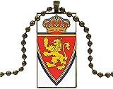 Collar para Regalo De Fiesta Unisex Real Zaragoza Logo Glass...