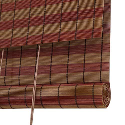 LIANGJUN bamboe gordijn rolgordijn rolgordijn Romeinse venster tinten partitie achtergrond muur ademend restaurant decoratie strak geweven, op maat