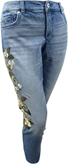 Women's Plus Size Embroidered Skinny Jeans