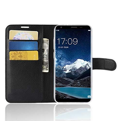 TenYll Oukitel K5 Wallet Tasche Hülle, PU Schutzhülle [Premium Leder] [Ultra Slim] [Card Slot] [Ständer] Flip Wallet Hülle Etui für Oukitel K5 -Schwarz