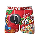 Kalan LP Men's Crazy Boxers Froot Loops Red/White Boxer Briefs X-Large
