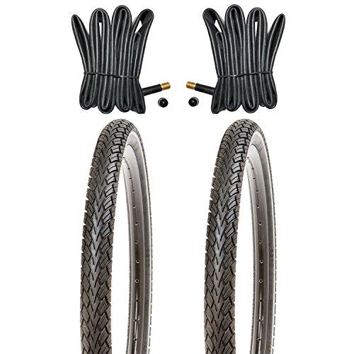 Kujo 2X 26 Zoll Fahrradreifen 26x1.95 Pannensicherer mit Reflexstreifen inkl. Schlauch AV