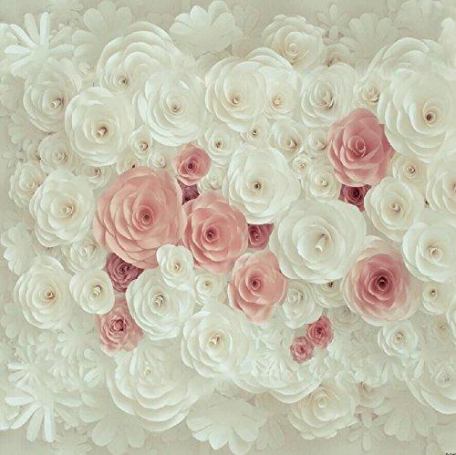 Baby Dusche 150x150cm Fotografie Hintergrund weißer Blumenblumen Hintergrund für Brautparty Hochzeits Nachtisch Tabellen Wand Dekoration D-7467