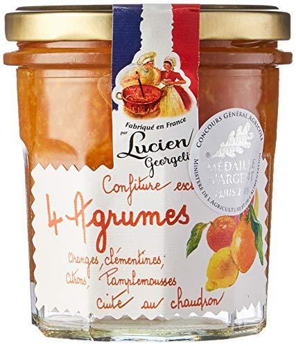 Lucien Georgelin Confiture Extra de 4 Agrumes 350g - Pack de 6
