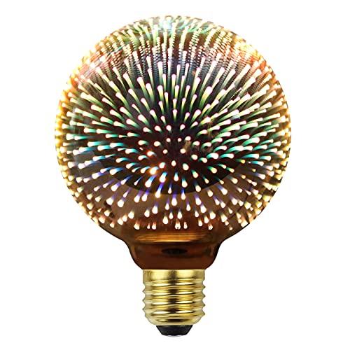 Bombilla Edison Vintage Bombilla de Filamento LED 360° Color de Fuegos Artificiales Resplandor Gran Angular...
