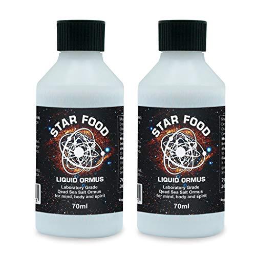 Star Food ORMUS Liquid 70ml, Monatomic Gold, Ormus, Dead Sea Salts, MANA, MUFKUTZ Potent Pure Liquid (Double Pack)