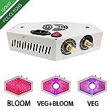 YMXGLT Luz de Crecimiento LED para Plantas, 1100W Bombilla LED Horizontal Regulable para Plantas de Interior, Control de Interruptor de Doble Perilla Luz de Relleno de Tres Modos de iluminación,Verde