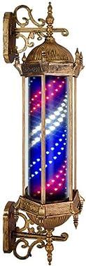 KauiP LED Barber Pole Enseigne Lumineuse pour Barbier Shop,Vintage Poteau De Coiffeur Salon LED Poteau De Barbier Signe Rouge