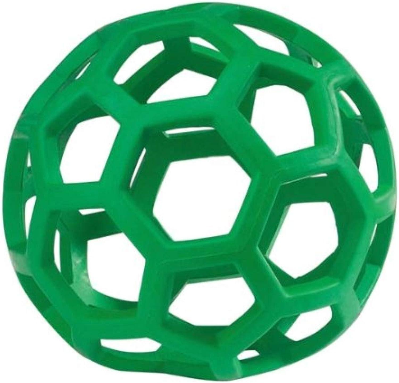 YQSMB HOL-ee Roller Original Treat Dispensing Dog BallHard Natural RubberAssorted colors