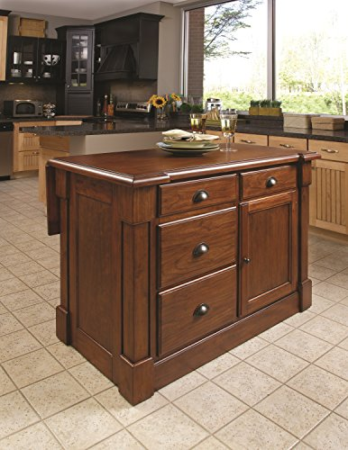 Home Styles 5520-94 Aspen Kitchen Island, Rustic Cherry Finish