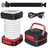 GlobaLink Lanterna da Campeggio Solare LED Ricaricabile Torcia Laterna Pieghevole Luce di Emergenza Solare e USB Caricabatterie Mobile per Giardino Campeggio Escursione Esterna Attività Aria Aperta