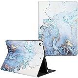 ArtCase Funda para iPad Air 2/Air 1, iPad 6ª/5ª generación (9.7 Pulgadas 2018/2017), Funda de mármol de Piel sintética con función Atril y Apagado automático (Mapa Dorado)