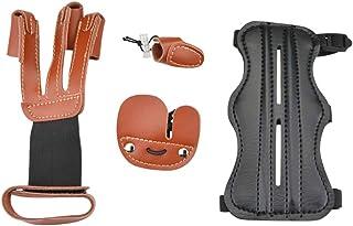 Cuir de Vache Tir à L/'Arc Doigts Protection Main Gant pour Cible Recourber Bow