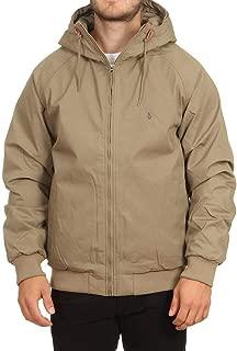 Volcom Men's Hernan Teflon Heavy Weight Hooded Jacket, Brindle, L