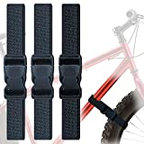 Woyeainy 3 Pack Adjustable with Buckles Bike Rack Straps Bicycle Wheel Stabilizer Straps Grip for Bike Rack Accessories Grip Keep The Bicycle Wheel from Spinning