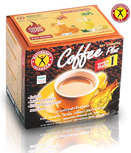 Coffee Plus - Instant Kaffee mit Ginseng 135g 10 Beutel Nature Gift Thailand