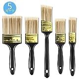 塗装刷毛 ペイント 塗装ブラシ 5本 ペイントブラシ ドア、壁、木製家具の塗装済み
