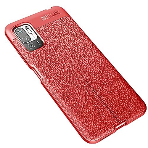 XINNI Custodia per Xiaomi Redmi Note 10 5G|Poco M3 PRO 5G/4G Cover, Morbida TPU Antiurto Protezione Telefono Cellulare Case, Rosso
