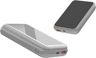 15W Fast Charge Wireless, 10000MAH Wireless Power Bank Laddning Powerbank Externt batteri, Bärbart laddare Hjälpbatteri,Gray