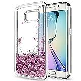 LeYi Coque Galaxy S6 Edge avec Film de Protection écran, Fille Personnalisé Liquide...