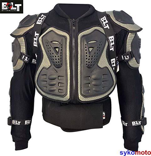 Kogelvrije Vesten Bolt Core-1 Volwassen Motorfiets Motocross Wacht MX Quad ATV BMX MTB Wervelkolom Schouder Elleboog Borstbescherming Slijtage (2XLarge (46-48 inch))