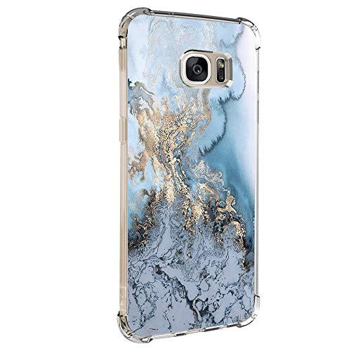 Hülle für Samsung Galaxy S6 Edge Hülle,Crystal Hülle Transparent Schutzhülle Weiche Silikon Handyhülle Slim Handy Kratzfest Kreative Motiv Muster Clear Schutz Bumper case Cover für Galaxy S6 Edge (4)