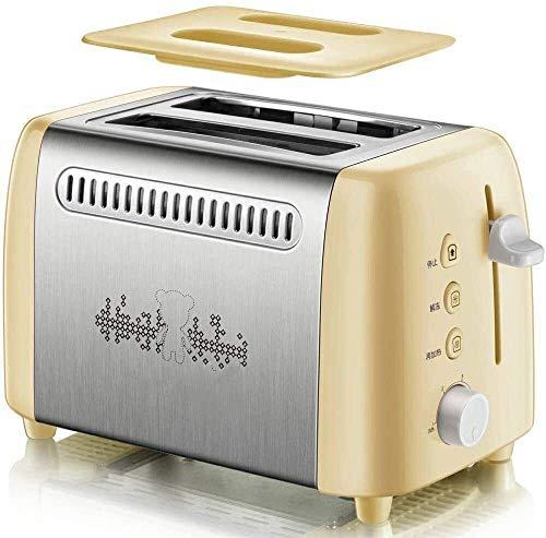Tostadora, acero inoxidable ribete Toast, Piloto de Spit leilims desayuno Máquina 6 archivos RVTYR