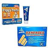 Dr. Paul's Piggy Paste Gel Toenail Fungus Treatment Bundle With 100 Adhesive Bandages