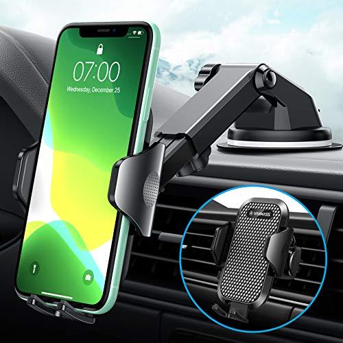 VANMASS Handyhalterung Auto 3 in 1 Lüftung & Saugnapf Handyhalter Fürs Auto 100{5e4b5595a3bd60f16d7b2da011e518fff7d566c72067daf940320f31ffca3bb5} Silikonschutz Universale Kfz Handyhalterung 360°Drehbar Flexibel Für Alle Handys & Alle Autos iPhone Samsung Huawei LG
