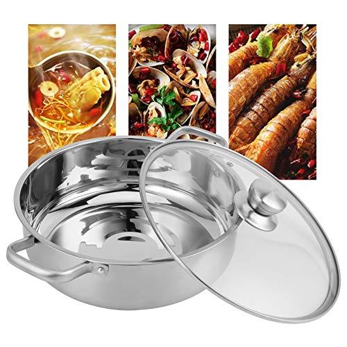Yosoo Health Gear Olla de Sopa, Olla Caliente, Asas remachadas de Acero Inoxidable para reuniones de Amigos, Estufas de Gas, cocinas