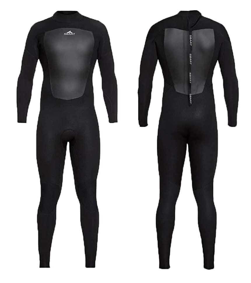 パトロンリマーク施しJUNMI ウエットスーツ メンズ 3mm ネオプレン素材 フルスーツ マリンスポーツウエット クラシック ダイビング サーフィン フィッシング バックジップ仕様