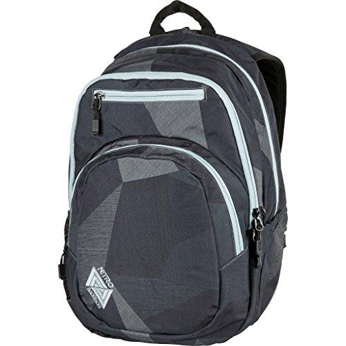 Nitro Stash Rucksack, Schulrucksack, Schoolbag, Daypack,  Fragments Black, 49 x 32 x 22 cm, 29 L,