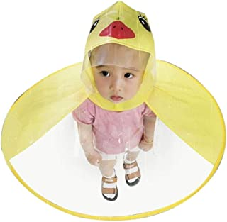 Snw Creative Yellow Duck Poncho Children's Raincoat UFO Rain Coat Cover Funny Baby Kids Outdoor Play Supplies