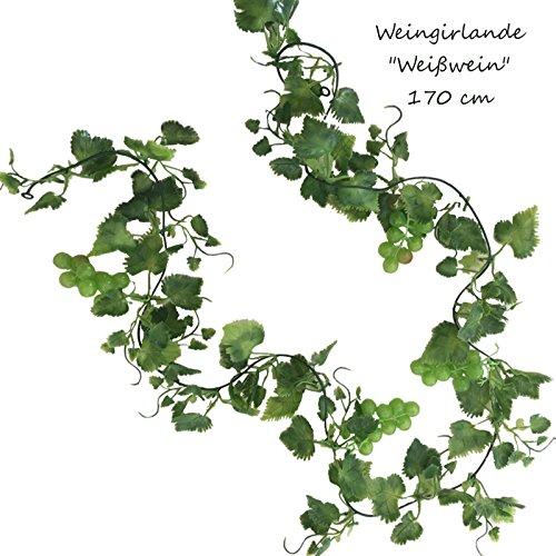 TLC Weingirlande 170 cm künstlich WEIßWEIN Rebe Weinranke Wein Ranke Kunstpflanze Trauben