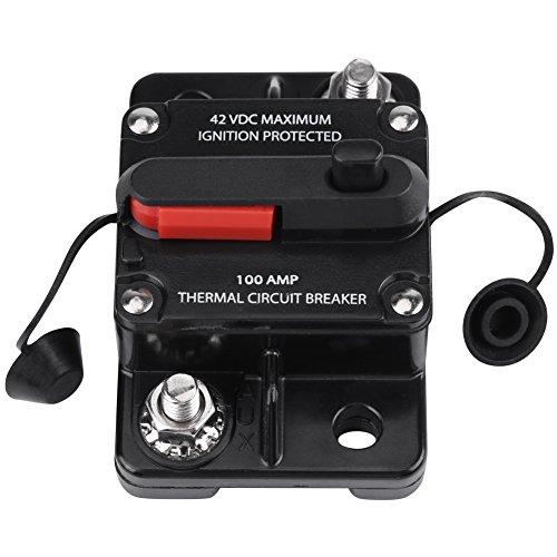 Auto Audio Leitungsschutzschalter 50A 80A 100A 150A 200A 250A (optional) DC12V-42V Inline Schutzschalter für Autoradio(100A)