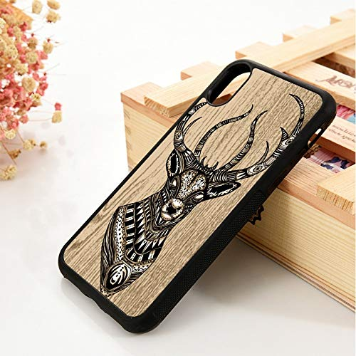 WGOUT para iPhone 5 5S 6 6S Funda de Silicona Suave   para iPhone 7 Plus X XS 11 Pro MAX XR Deer Head Deer Animal Graphic, para iPhone 11