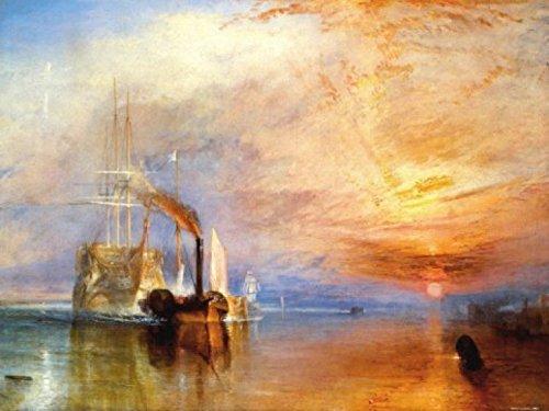 1art1 Joseph William Turner, La Valorosa Téméraire, 1839 Stampa d'Arte (80x60 cm) E 1x Poster da Collezione 1art1