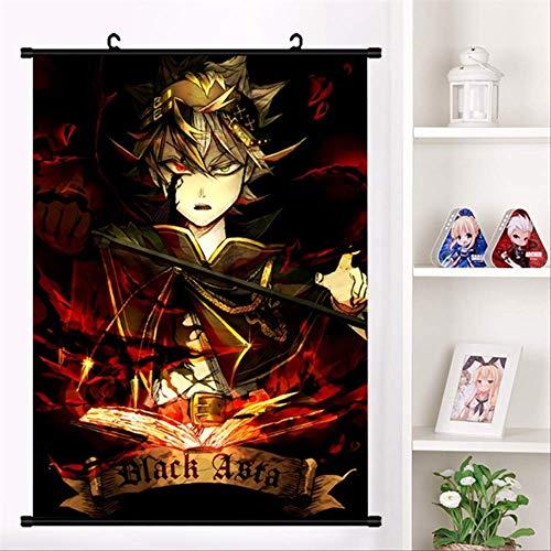 WUJIJILI Anime Black Clover Asta Yuno Yami Cosplay Wall Scroll Mural Poster Wall Hang Poster Otaku Home Decor Collection 20X30cm K