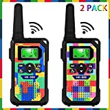 Walkie Talkie for Kids ,3 KM Long Range with 22 Channels & 2 Way Radios & LED Flashlight, Ideal Gifts for Boys & Girls to Play with F riends and Family for Age 3 4 5 6 7 8 9 (2pack)