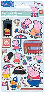 Paper Projects 01.70.06.145 Peppa Pig Glorious Britain - Lote de pegatinas (19,5 x 9,5 cm)