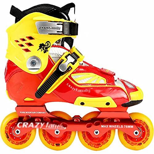 Patines en línea-Zapatos de Patinaje de Velocidad Rojos de fantasía Unisex para Adultos, adecuados para el Entrenamiento de Carreras Profesionales de Clubes de Estudiantes universitarios