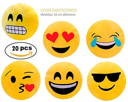 Lote de 20 Cojínes Emoticonos - Cojines Emoticonos Comprar Baratos Online - Cumpleaños, Comuniones