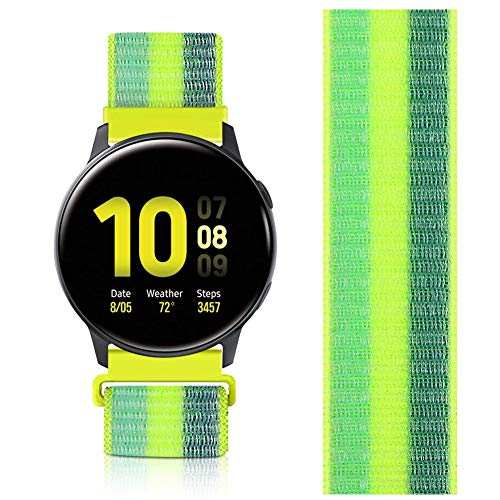 AVOD Correas de repuesto de nailon de 22 mm para deportes de liberación rápida compatibles con Ticwatch Pro/Galaxy Watch3 45 mm/Galaxy 46 mm, Gear S3 Frontier/Classic (amarillo polen, 22 mm)
