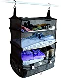 Stow-N-Go Space Saving Travel Luggage Organizer and Packing Cube With Built In Hanging Shelves and Laundry Storage Compartment. Save Room In Suitcases and Carry Ons, Reduce Wrinkles and Never Unpack Clothes Again